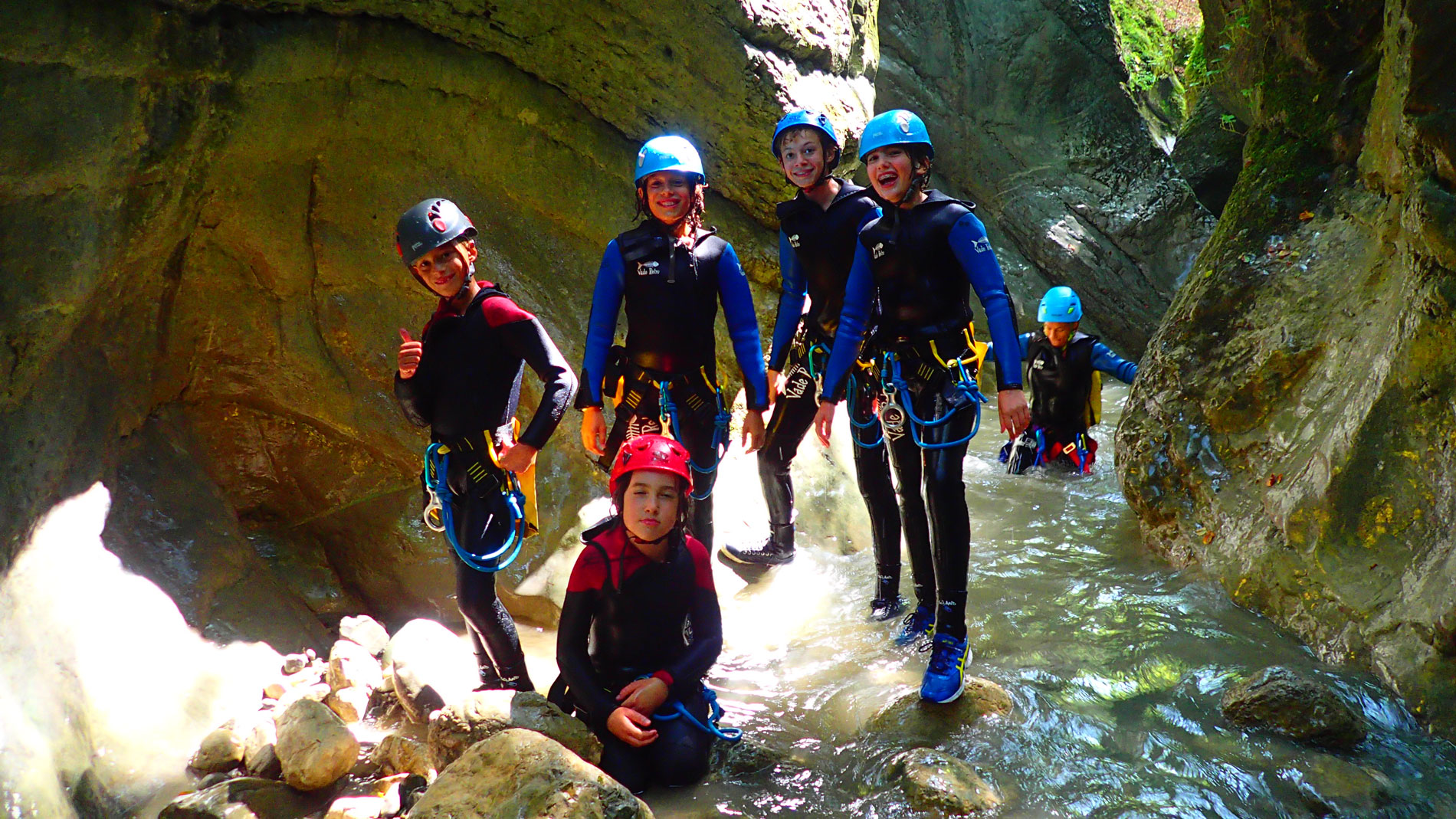 canyoning-moules-marinieres-gresses-en-vercors-famille-2
