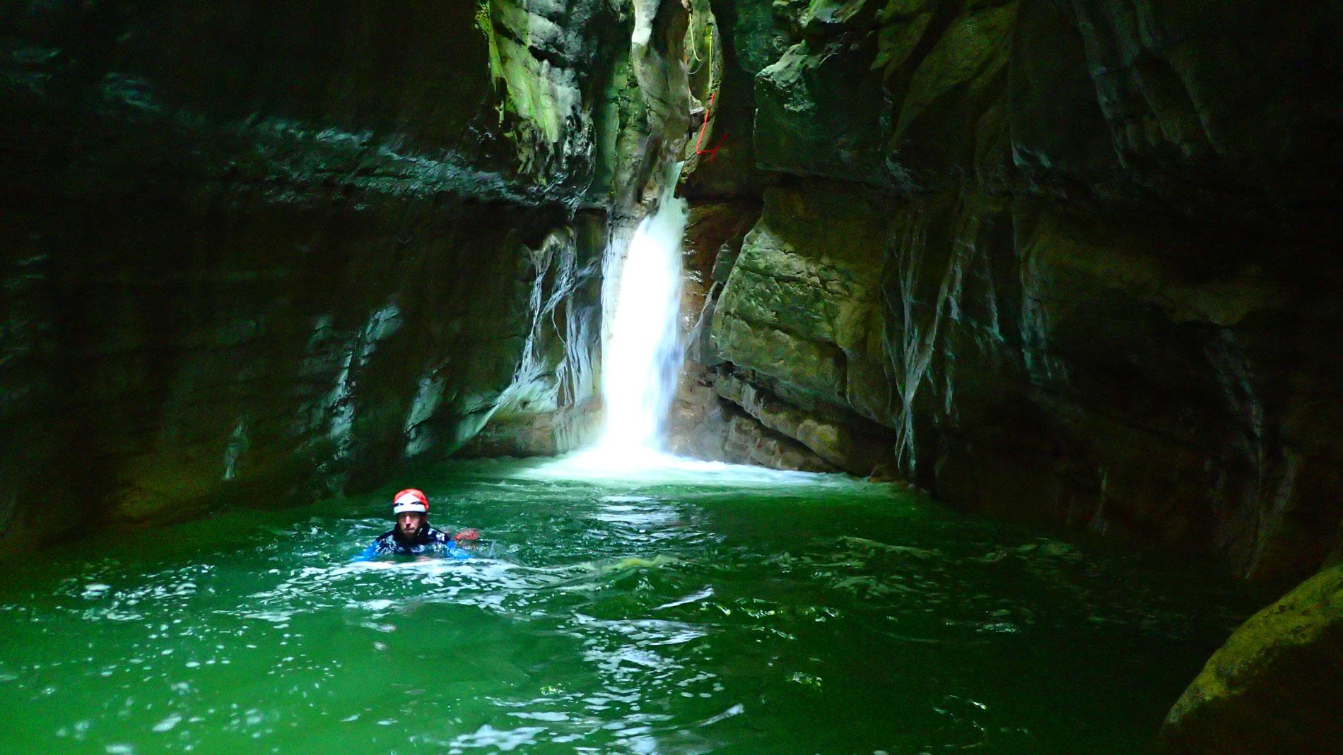 Canyoning-Evasion Canyon du Pont du diable Massif des Bauges